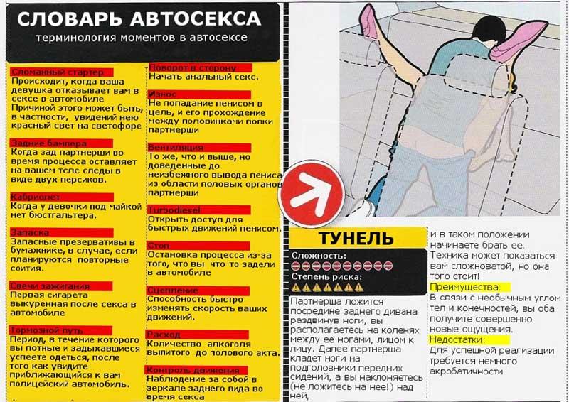 Поза Туннель и словарь автосекса