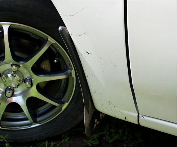 Битум на кузове автомобиля
